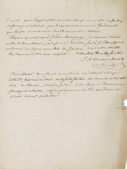 Isaac-Ami Bordier-Marcet (1768-1835) ingénieur,...