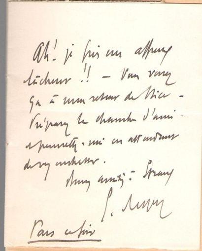 Ernest REYER (1823-1909) compositeur. L.A.S.,...