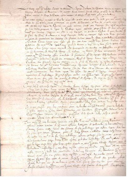 bataille de coutras. Manuscrit, Discours...