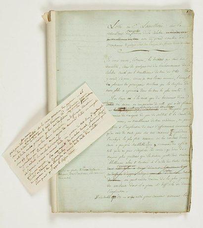 Louis-Benjamin Fleuriau de Bellevue. Manuscrit...