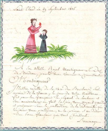 HENRI V, duc de Bordeaux puis comte de CHAMBORD...