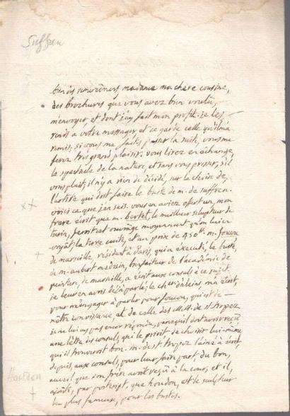Auguste-Paul de LAMANON (1748-1820) officier...