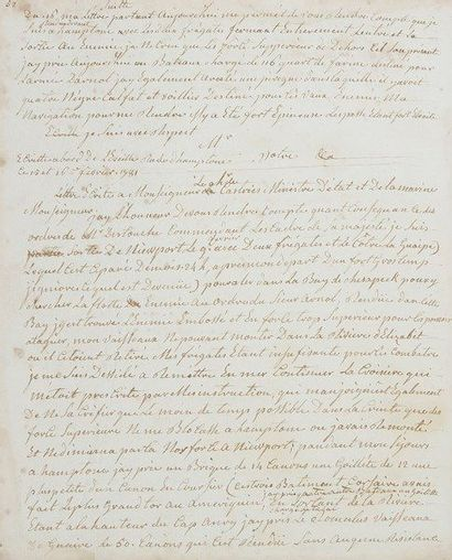 Armand le gardeur de tilly. Registre manuscrit...