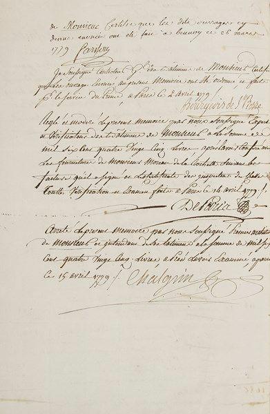 [LOUIS xVIII]. Recueil de 13 pièces, 1775-1790;...
