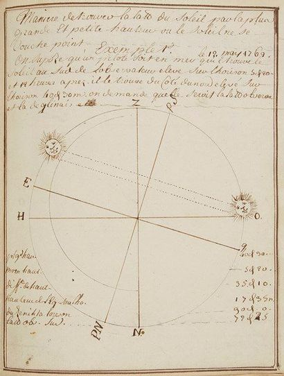 MARINE. Manuscrit, [vers 1763]; volume petit...