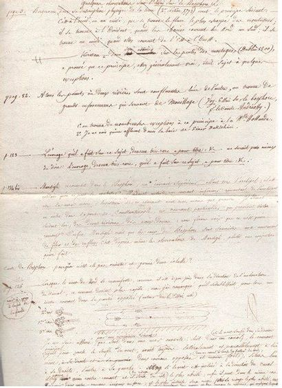 marine. Notes et manuscrits, [Rochefort,...