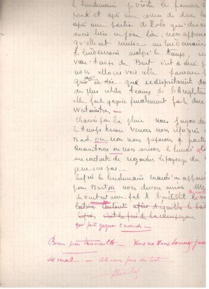 marine. 55 manuscrits autographes signés...