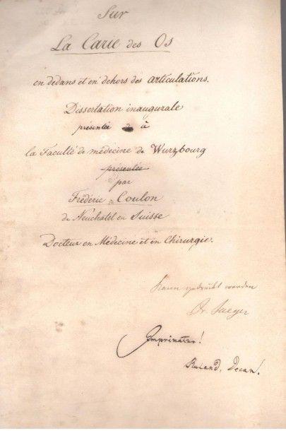 médecine. Manuscrits, notes et dessins autographes...