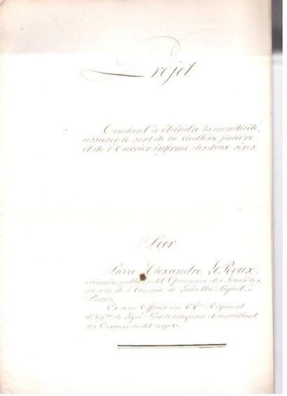 MENDICITÉ. 2 manuscrits a.s. par Pierre-Alexandre...