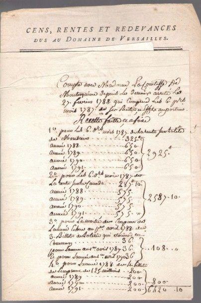 Famille de MONTESQUIOU. 55 lettres ou pièces,...