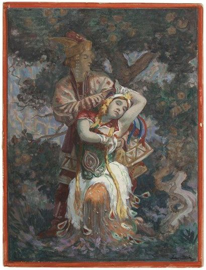 BALLETS RUSSES. Jean-Charles DUVAL (1880-1963)...