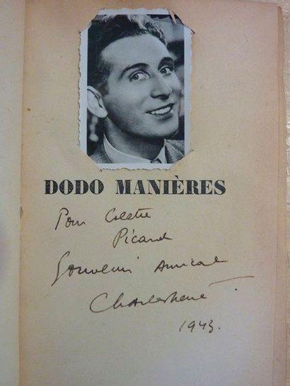 Charles TRENET. Important ensemble de documents sur le chanteur. {CR}2 livres dédicacés,...