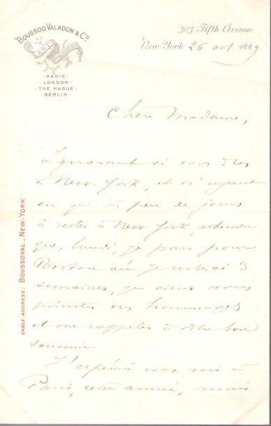 beaux-arts. 24 lettres ou pièces, la plupart L.A.S. {CR}Benjamin-Constant, Jules...