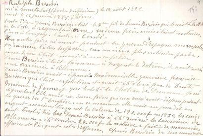 [Rodolphe BRESDIN (1825-1885)]. 13 L.A.S....