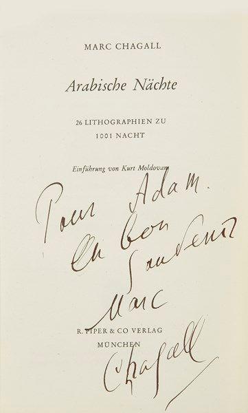 Marc CHAGALL. Arabische Nächte (R. Piper...