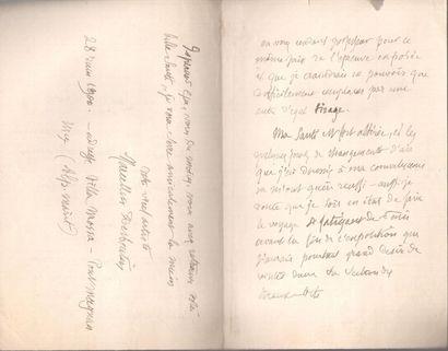 Marcellin DESBOUTIN (1823-1902) peintre, graveur et poète. 3 L.A.S., 1887-1900;...