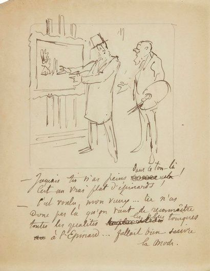 Jules Renard dit DRANER (1833-1926) dessinateur....