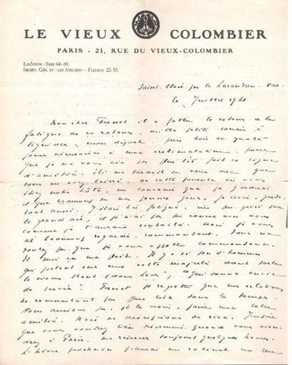 Jacques COPEAU (1879-1949) comédien et metteur...