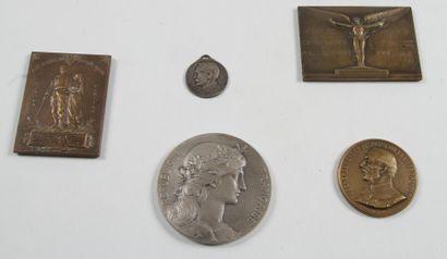 MÉDAILLES DE TABLE 10 insignes et médailles:...