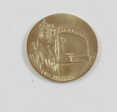 Médaille en or de la Cathédrale de la Résurrection....