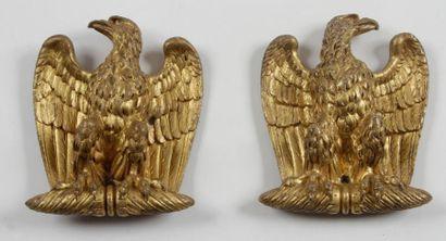 Belle paire d'appliques décoratives à l'Aigle...