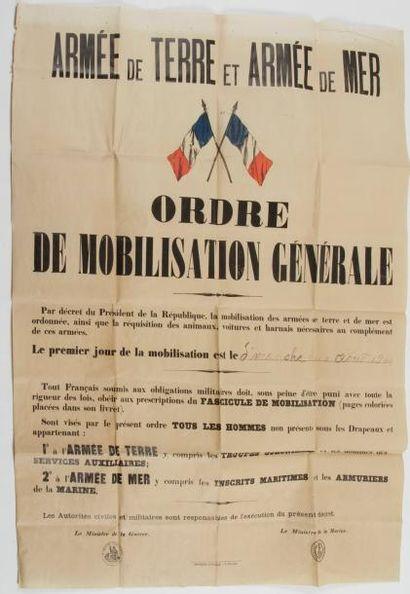 Ordre de mobilisation générale, 2 août 1914...