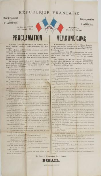 Proclamation du Général DUBAIL, Commandant...