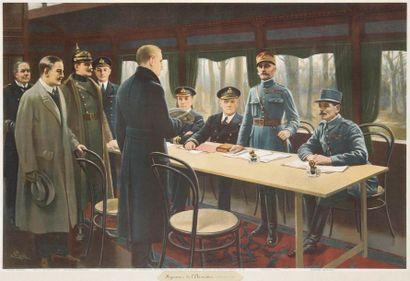 «L'Armistice de Rethondes. 1918.». Tirage...