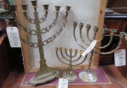 4 lampes de hanouca.