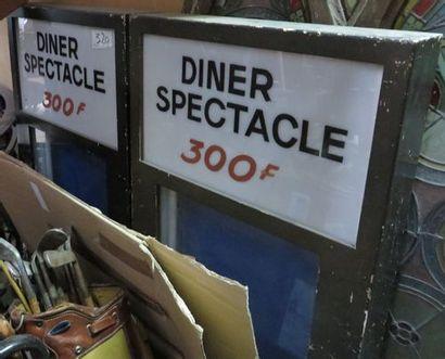 2 vitrines éclairantes Diner Spectacle 300...