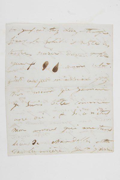 Juliette DROUET (1806-1883) .Lettre autographe signée «Juliette», 12 août [1838]...