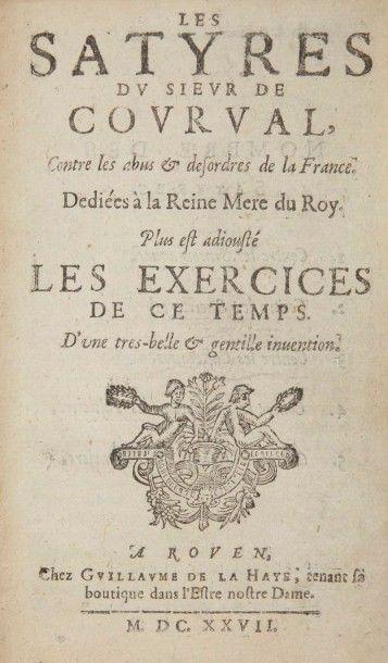 SONNET DE COURVAL (Thomas). Les Satyre du...