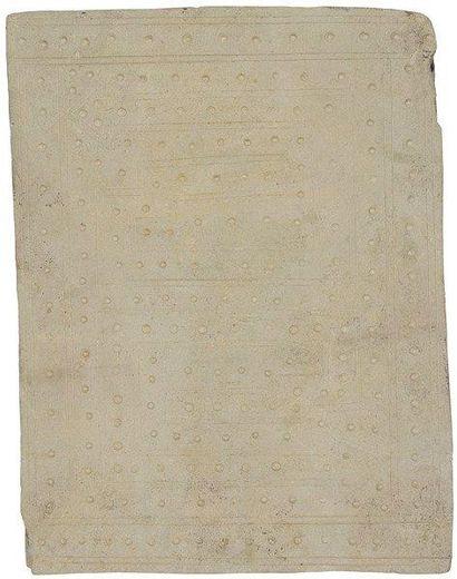 Grande plaque rectangulaire gravée de points et lignes. La première face présente...