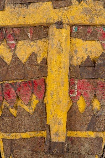 BOZO / BAMANA (Mali) Masque Lion. Puissant masque en bois recouvert de plusieurs...