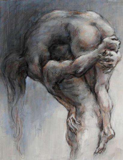 Francis de Lassus SAINT-GENIES (né en 1925) Le Ciel sur la terre Huile sur toile....