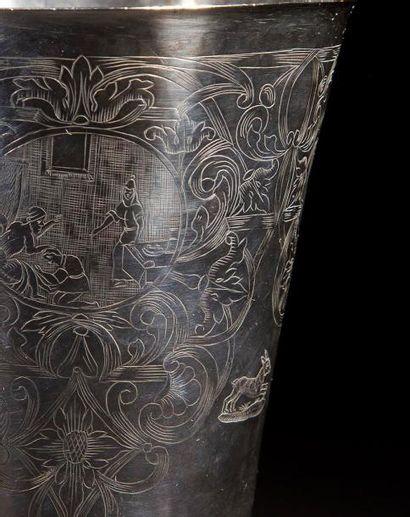 COUPE DE KIDDOUSH Francfort, Allemagne, XVIIIe siècle. Orfèvre: Johann Peter Beyer...