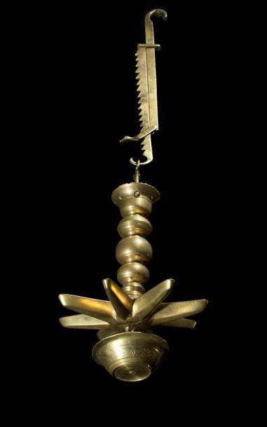 JUDENSTERN LAMPE DE SHABBAT Bronze. Hauteur...