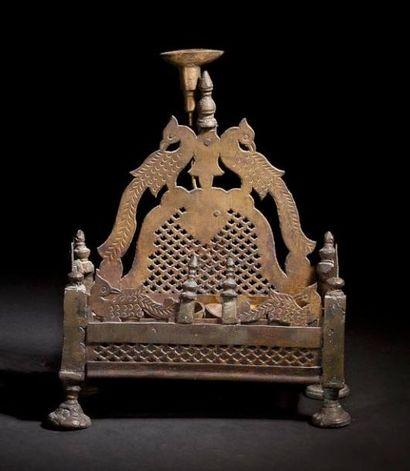 LAMPE DE HANOUCCA Afrique du Nord, XIXe siècle....