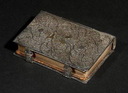 [PSAUMES] RELIURE EN ARGENT FILIGRANÉ Europe, XVIIe siècle. Psaltérium. Anvers,...