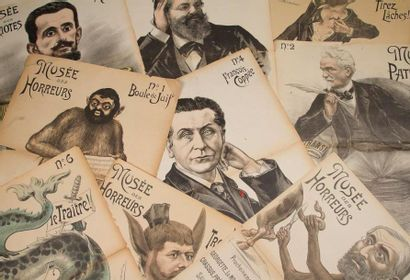 [DREYFUS]. Victor LENEPVEU Le Musée des horreurs. 1899-1900. Suite de 52+5 caricatures...