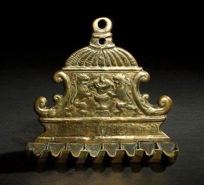 LAMPE DE HANOUCCA Italie, XVIIIe siècle....