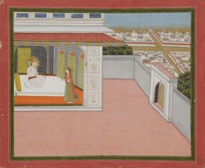 Couple princier, Inde, Rajasthan, Jaïpur,...