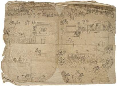 Illustration d'un épisode d'un manuscrit...