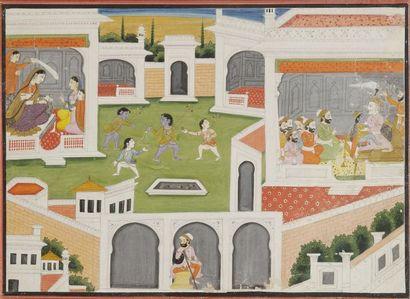 Épisode de l'enfance de Rama, Inde du Nord,...