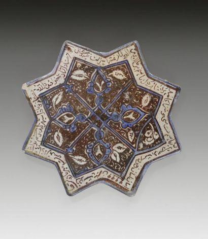 Carreau en forme d'étoile, Iran, Kashan,...