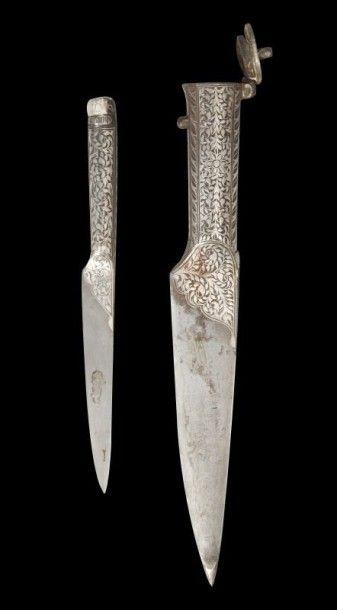 Couteau, kard, Iran, fin XIXe siècle. Lame...