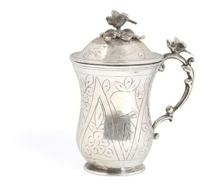 Tasse couverte en argent, Turquie, fin XIXe...
