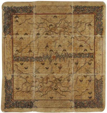 Jeu persan «snake & ladder», XIXe siècle...