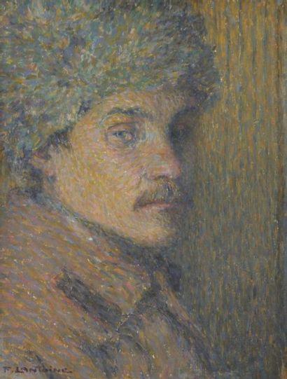 Fernand LANTOINE (1876 / 78-c.1955) Portrait d'un Tartare, 1915 Huile sur panneau....