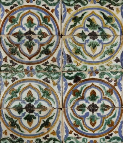 Composition modulaire de rondeaux polychromes, de type Arista, Séville, triana,...